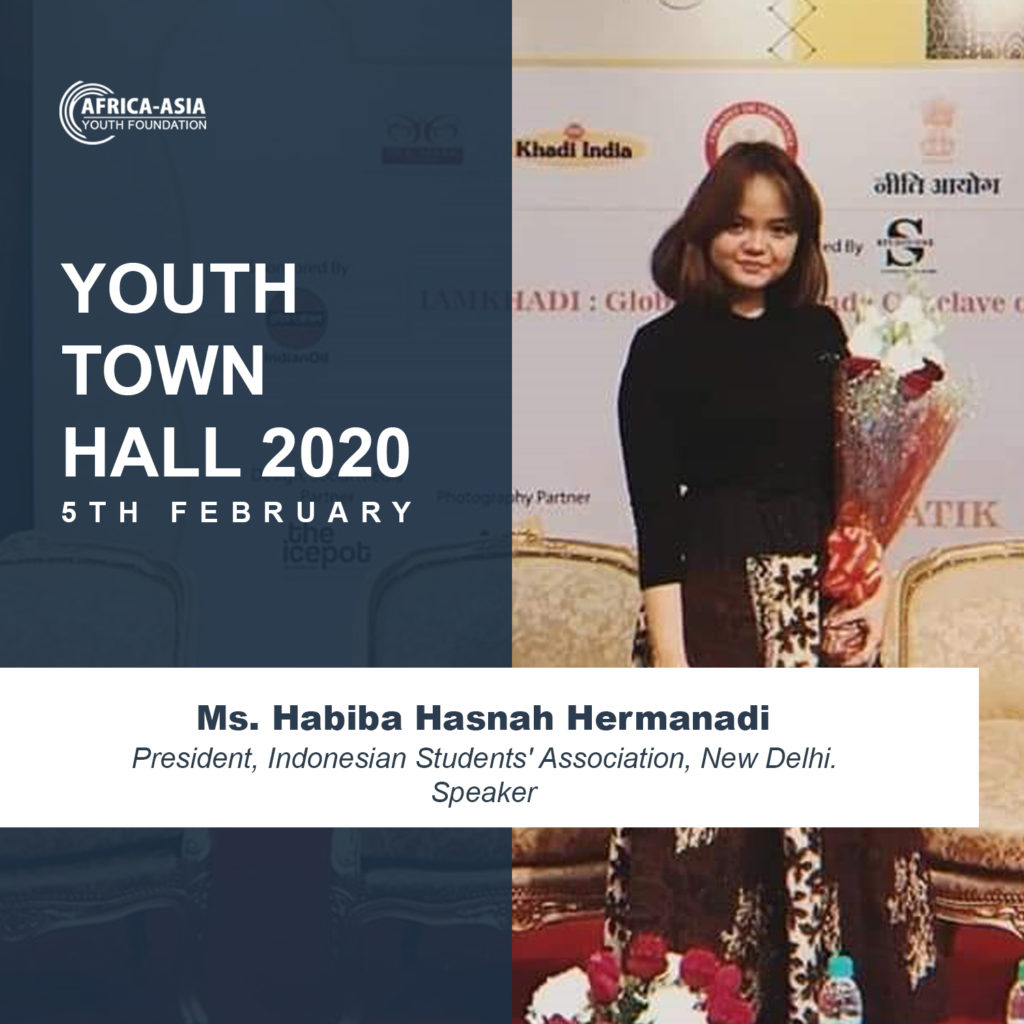 Ms. Habiba Hasnah Hermanadi, Speaker - Youth Town Hall 2020