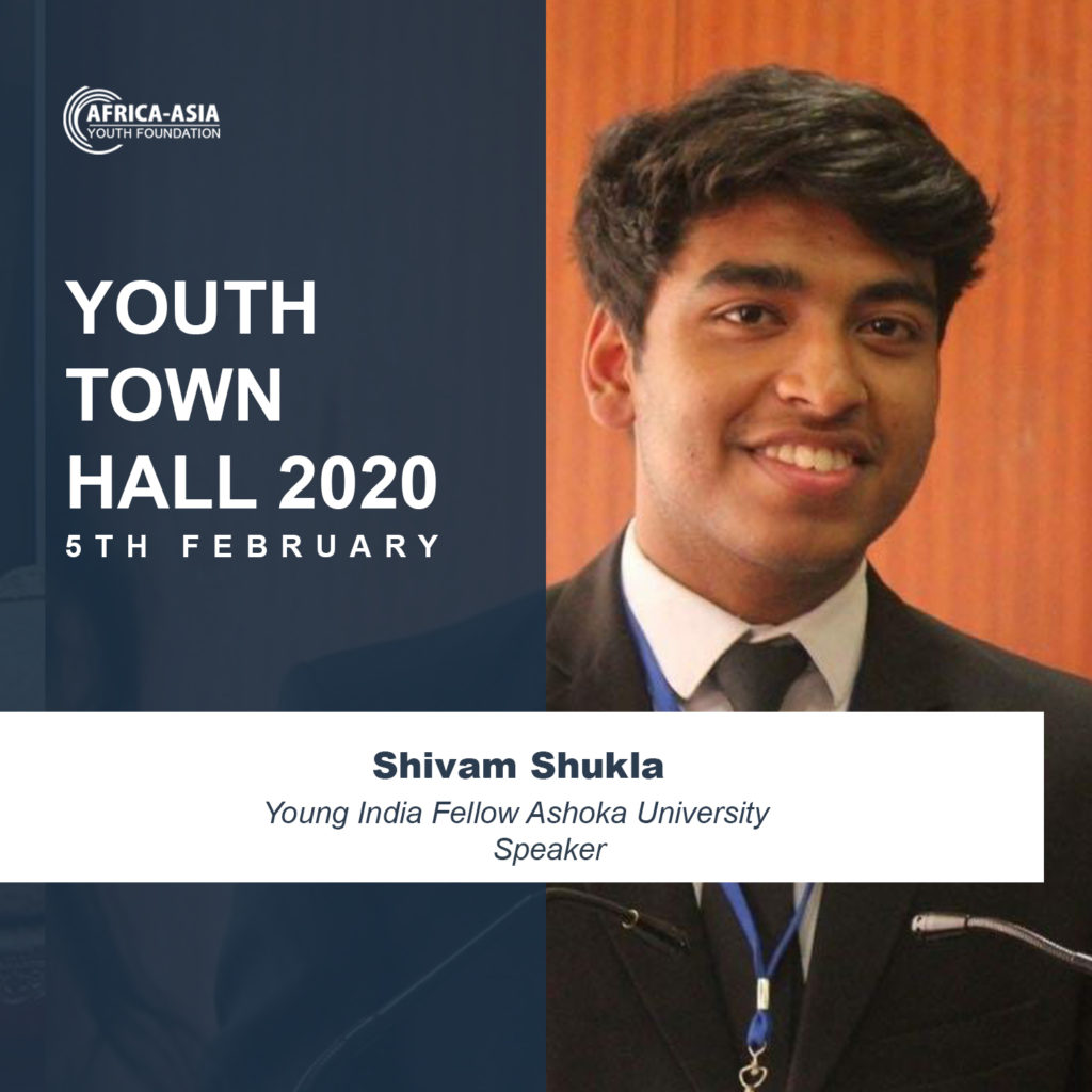 Shivam Shukla, Young India Fellow Ashoka University, Speaker Youth Town Hall