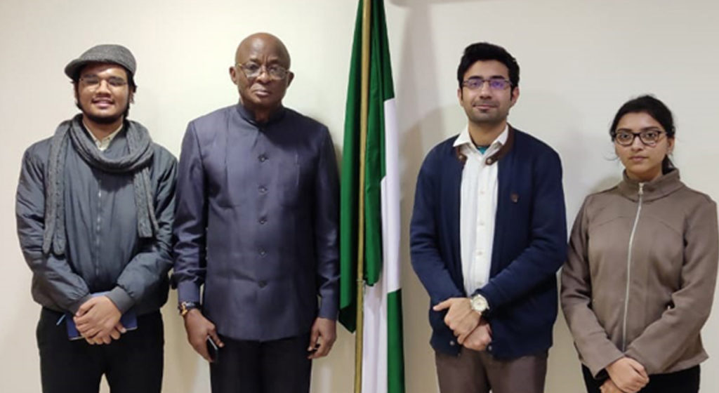 AAYFO India consltation visit to Nigeria High Commissioner to India